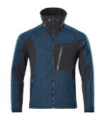 17105-309-4409 Veste tricot zippé - Bleu pétrole foncé/Noir