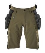 17149-311-33 Short avec poches flottantes - vert foncé