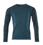 17281-944-44 T-shirt, manches longues - Bleu pétrole foncé