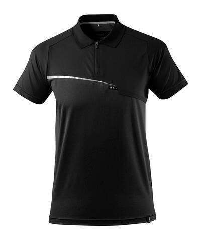 17283-945-09 Polo avec poche poitrine - Noir