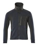 17484-319-01009 Sweatshirt zippé - Marine foncé/Noir