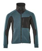 17484-319-4409 Sweatshirt zippé - Bleu pétrole foncé/Noir