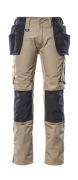17631-442-5509 Pantalon avec poches genouillères et poches flottantes - Sable clair/Noir