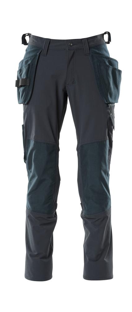 18031-311-010 Pantalon avec poches genouillères et poches flottantes - Marine foncé