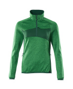 18053-316-33303 Pull polaire demi-zippé - vert gazon/vert bouteille