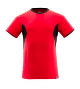 18082-250-20209 T-shirt - Rouge trafic/Noir