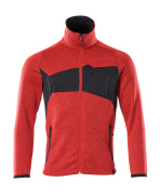 18105-951-20209 Pull zippé - Rouge trafic/Noir