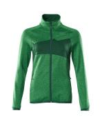 18153-316-33303 Pull polaire zippé - vert gazon/vert bouteille