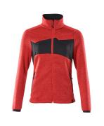 18155-951-20209 Pull zippé - Rouge trafic/Noir