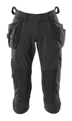 18249-311-010 Pantacourt avec poches genouillères et poches flottantes - Marine foncé