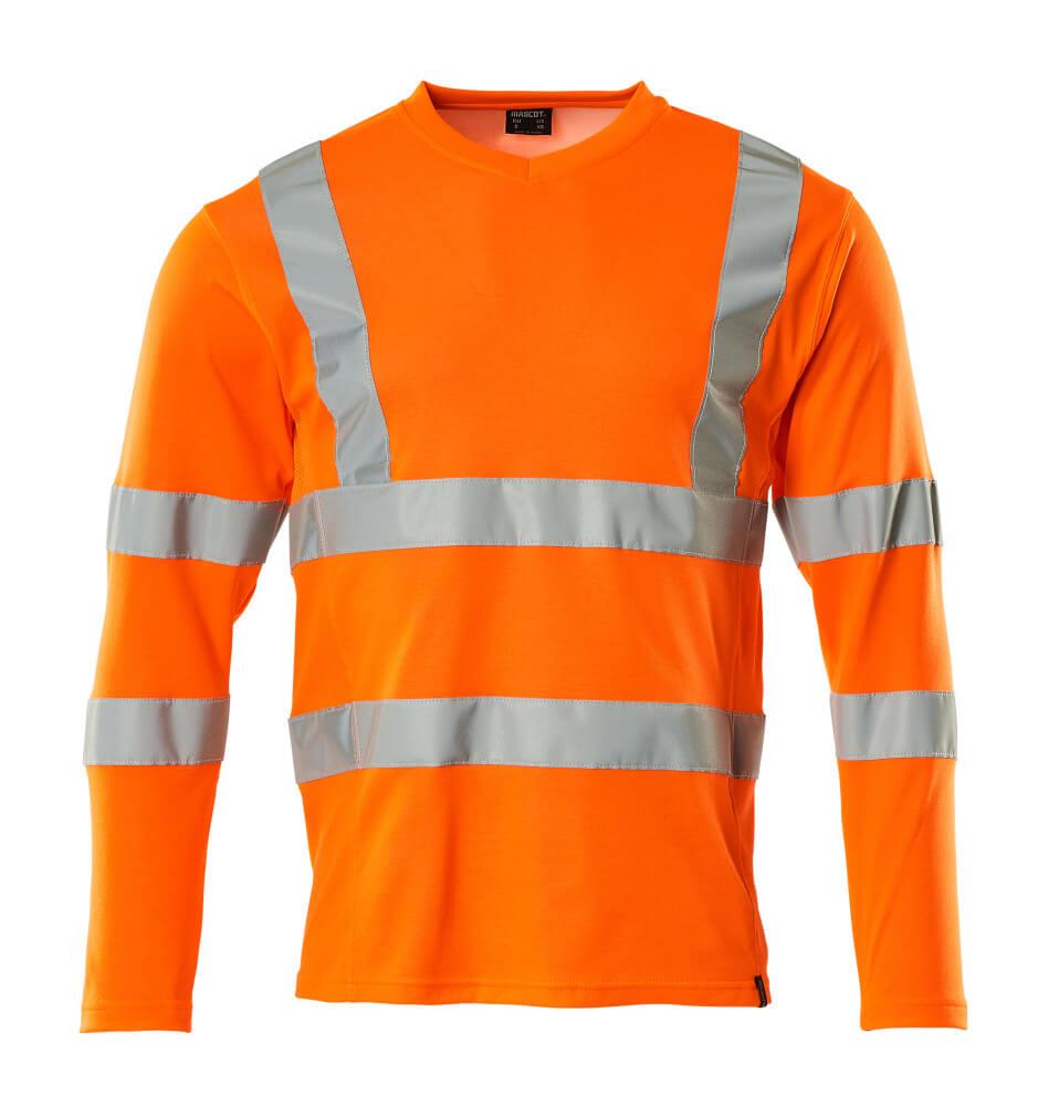 18281-995-14 T-shirt, manches longues - Hi-vis orange