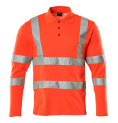 18283-995-14 Polo, manches longues - Hi-vis orange