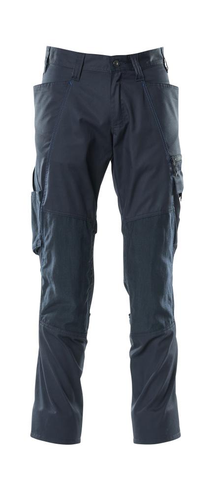 18379-230-010 Pantalon avec poches genouillères - Marine foncé