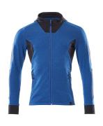 18584-962-91010 Sweat capuche zippé - Bleu olympien/Marine foncé