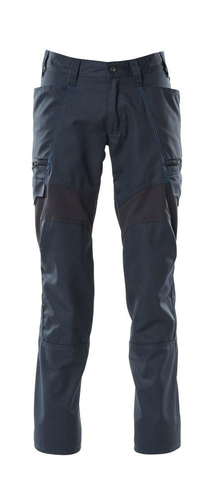 18679-442-010 Pantalon avec poches cuisse - Marine foncé