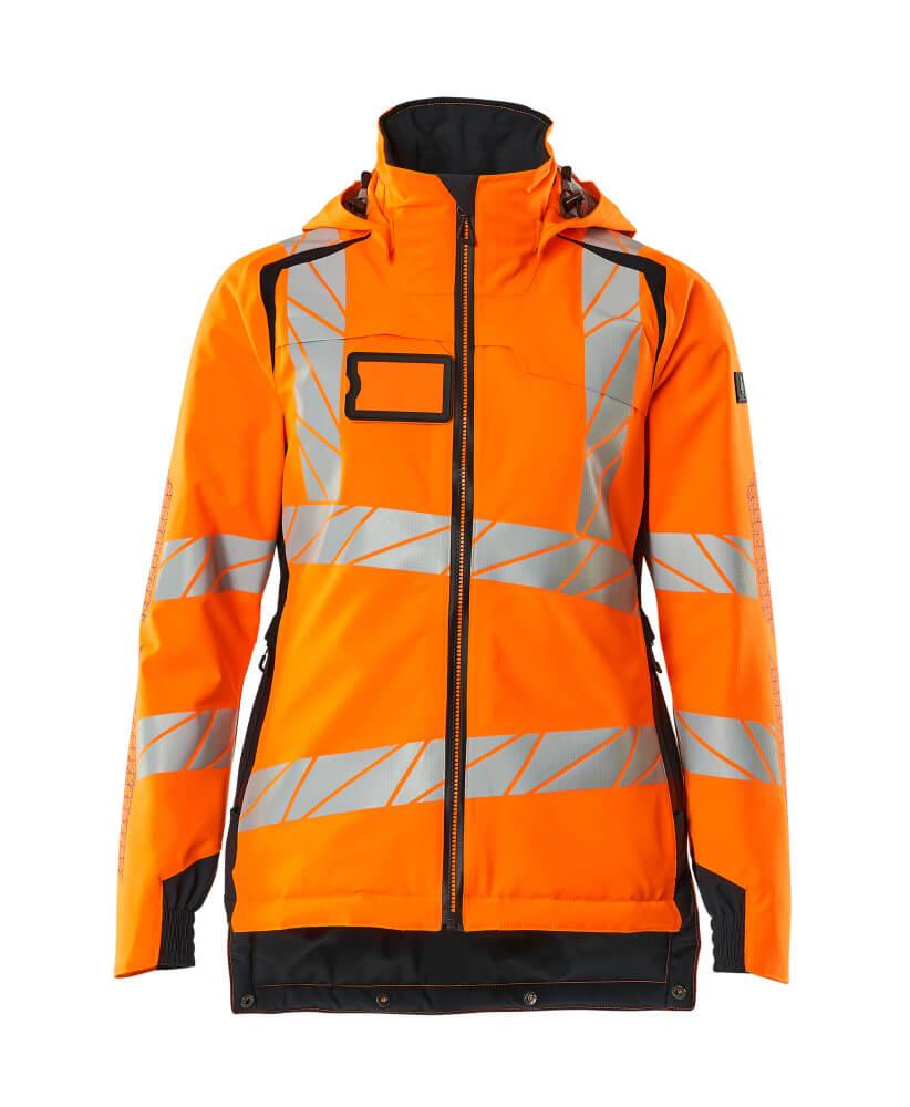 19045-449-14010 Veste grand froid - Hi-vis orange/Marine foncé