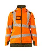 19045-449-1433 Veste grand froid - Hi-vis orange/vert mousse