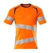 19082-771-14010 T-shirt - Hi-vis orange/Marine foncé