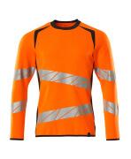 19084-781-14010 Sweatshirt - Hi-vis orange/Marine foncé