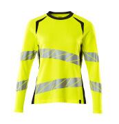 19091-771-14010 T-shirt, manches longues - Hi-vis orange/Marine foncé