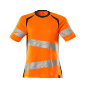 19092-771-14010 T-shirt - Hi-vis orange/Marine foncé