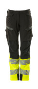 19178-511-01014 Pantalon avec poches genouillères - Marine foncé/Hi-vis orange
