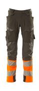 19179-511-01014 Pantalon avec poches genouillères - Marine foncé/Hi-vis orange