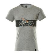 19182-965-0814 T-shirt - Gris chiné/Hi-vis orange