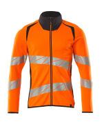 19184-781-14010 Sweatshirt zippé - Hi-vis orange/Marine foncé