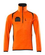 19303-316-14010 Pull polaire demi-zippé - Hi-vis orange/Marine foncé