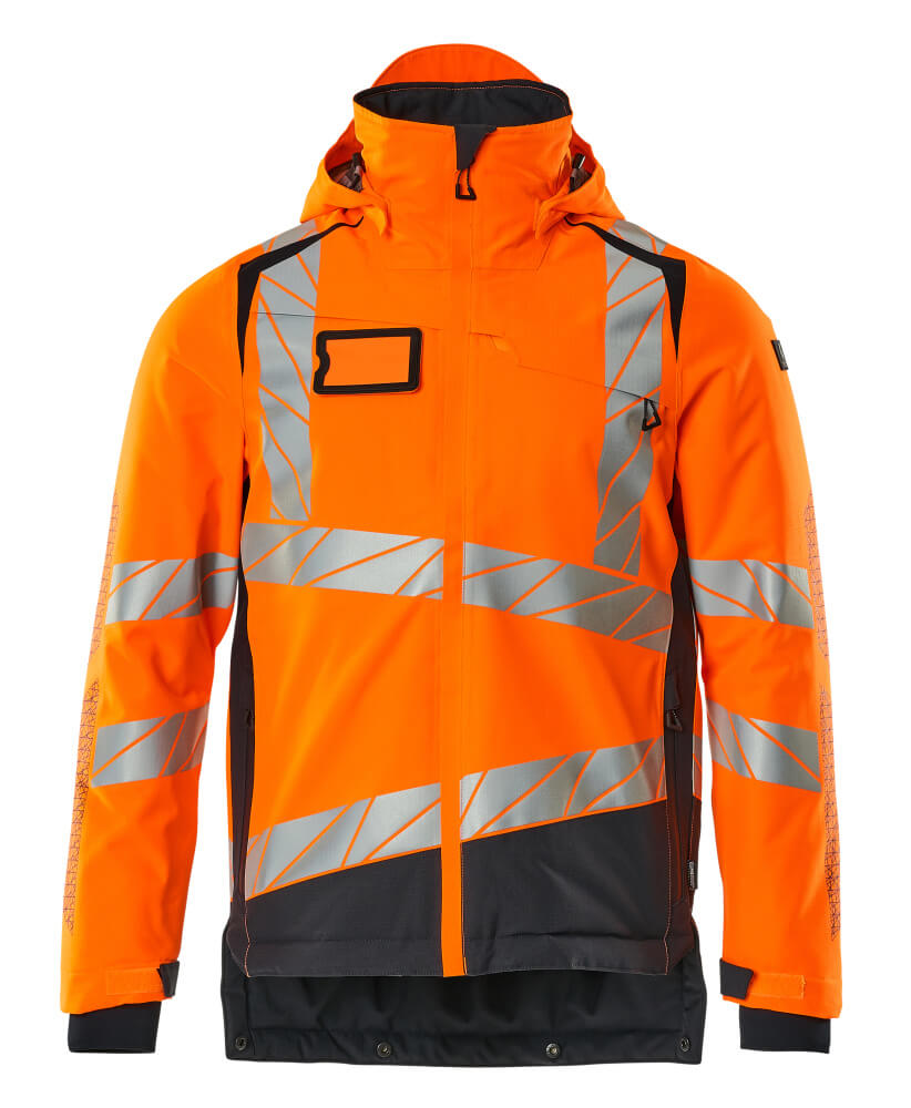 19335-231-14010 Veste grand froid - Hi-vis orange/Marine foncé