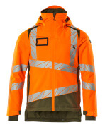 19335-231-1433 Veste grand froid - Hi-vis orange/vert mousse