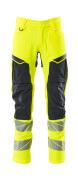 19479-711-14010 Pantalon avec poches genouillères - Hi-vis orange/Marine foncé