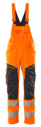 19569-236-14010 Salopette avec poches genouillères - Hi-vis orange/Marine foncé