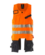 19589-711-14010 Gilet porte-outils - Hi-vis orange/Marine foncé