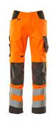 20879-236-1418 Pantalon avec poches genouillères - Hi-vis orange/Anthracite foncé