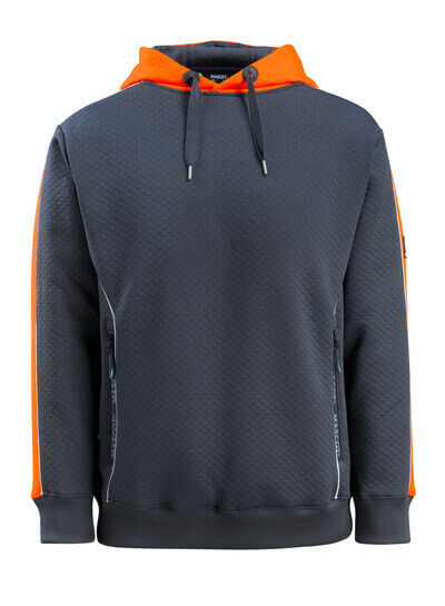 50124-932-01014 Sweat capuche - Marine foncé/Hi-vis orange