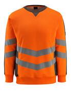 50126-932-1418 Sweatshirt - Hi-vis orange/Anthracite foncé
