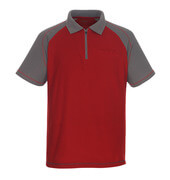 50302-260-02888 Polo avec poche poitrine - Rouge/Anthracite