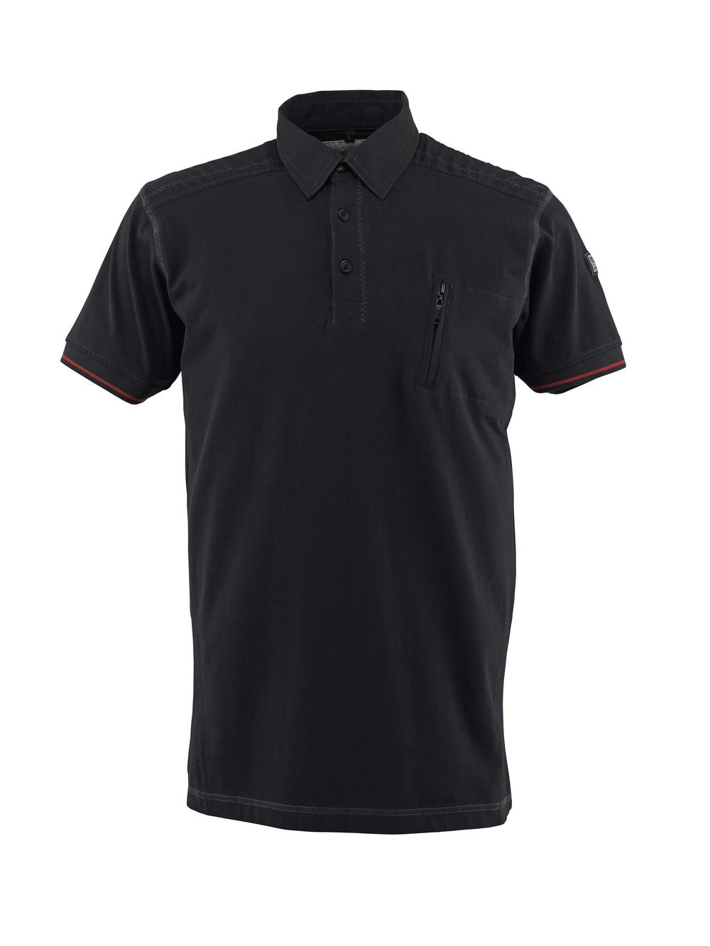 50351-833-09 Polo avec poche poitrine - Noir