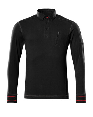 50352-833-09 Sweatshirt polo - Noir