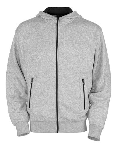 50423-191-08 Sweat capuche zippé - Gris chiné