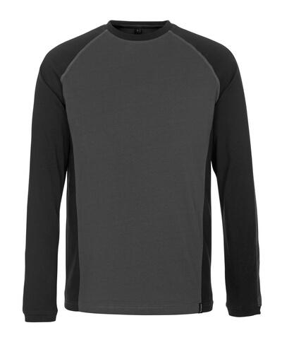 50504-250-1809 T-shirt, manches longues - Anthracite foncé/Noir