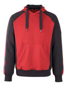 50508-811-0209 Sweat capuche - Rouge/Noir