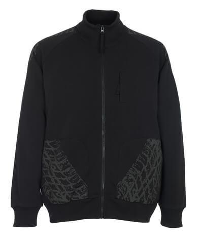 50549-830-09 Sweatshirt zippé - Noir