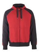 50566-963-0209 Sweat capuche zippé - Rouge/Noir