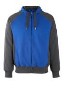 50566-963-11010 Sweat capuche zippé - Bleu roi/Marine foncé