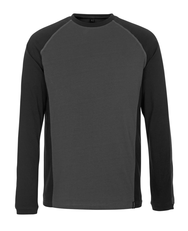 50568-959-1809 T-shirt, manches longues - Anthracite foncé/Noir