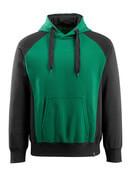 50572-963-0309 Sweat capuche - Vert bouteille/Noir