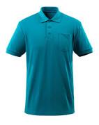 51586-968-93 Polo avec poche poitrine - Bleu pétrole